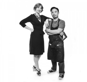 Sok Pho & Melissa Clark-Pho, Owners of The Art of Framing. Jenkintown PA